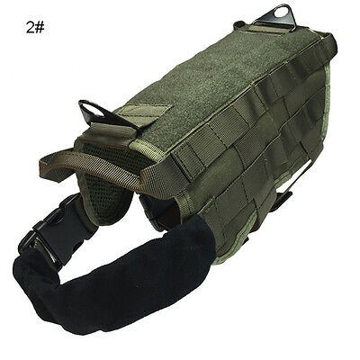Tactical Police Dog Military Vest Service Canine Molle Harness Dog Wear S M L XL