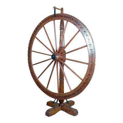 19th century Large Saloon Gaming spinning wheel of fortune