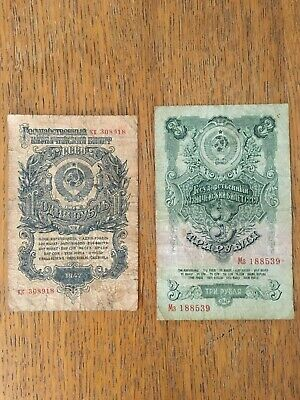Russie URSS 1 3 Roubles 1947 Pick 216 217 G