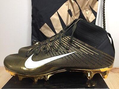 sports shoes 446df aba47 Nike Vapor Untouchable 2 LE Size 11 Superbowl 50 Football Cleats Gold Black