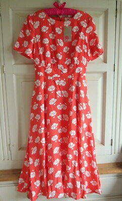 b2855e5e33 NEW BODEN RUTH Midi Dress UK 8 L (US 6 EU 34 36) Rosehip Primrose ...