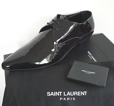 e8ba621920 NIB SAINT LAURENT Paris Black Patent Leather