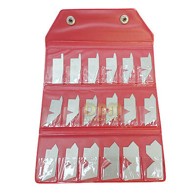 18 Piece Angle Gage Set 5 - 90 Degree Pouge Case included