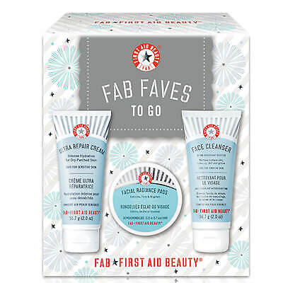 First Aid Beauty FAB Faves to Go Kit #5852 DAMAGED BOX