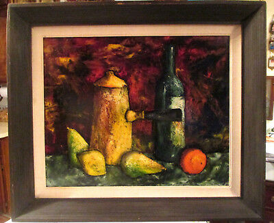 Original Mid Century (J. Marque)  French Still Life Oil Painting Signed