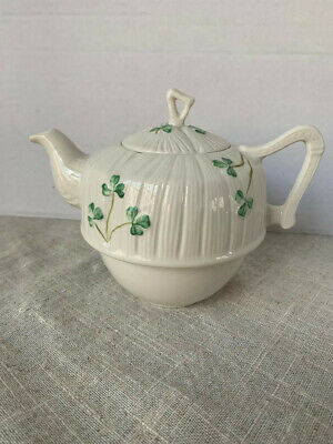 Belleek Harp Shamrock Tea for One teapot only