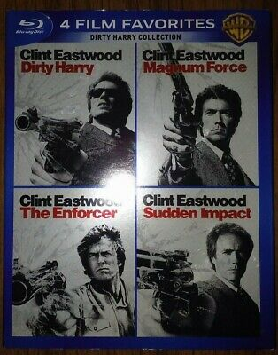 Dirty Harry Collection 4 Film Favorites Blu-ray 4-Disc Set Magnum Force Enforcer