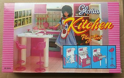 GLORIA DOLLHOUSE FURNITURE SIZE KITCHEN With Oven & Cabinet PLAYSET FOR Dolls