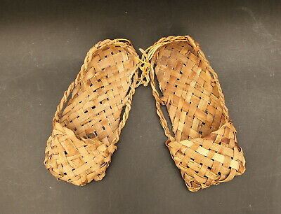 Authentic Russia Russian Handmade Peasant Bast Shoes Lapti Лапти Museum Piece