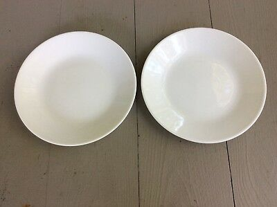 """Corelle Winter Frost White Bread and Butter or Dessert Plates 6 3/4"""" Set of 2"""
