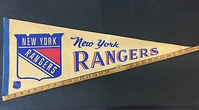 New York Rangers NHL Pennant Vintage 60's 70's 80's Combine Shipping