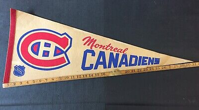 Montreal Canadians NHL Pennant Vintage 60's 70's 80's Combine Shipping