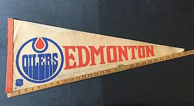 Edmonton Oilers NHL Pennant Vintage 60's 70's 80's Combine Shipping