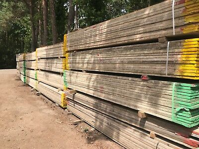 Reclaimed used Scaffold Boards  3.9m x 220 x 38mm