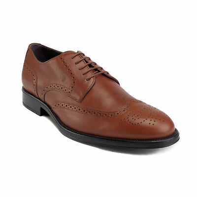 Tods Mens Navy Leather Metal Rivet Lace Up Derby Shoes Size UK6.5//US7.5~RTL$575 Tod/'s