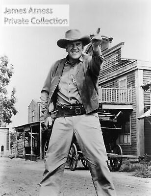 "James Arness Gunsmoke Marshal Dillon ""Hold It""    8 x 10"