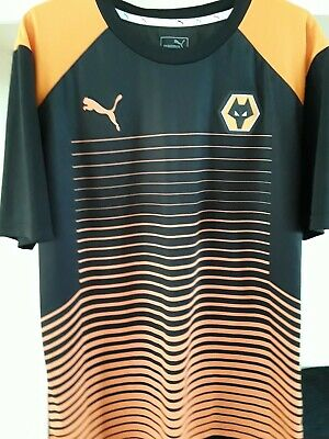 Wolverhampton Wanderers Wolves fc Puma football training shirt size Large