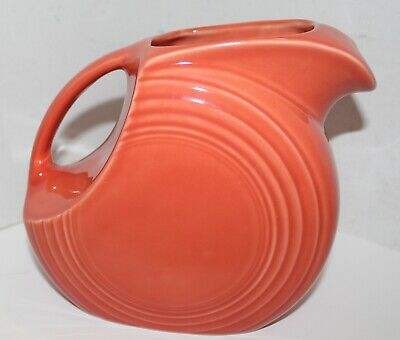 Large Disk Persimmon Homer Laughlin Fiesta Ware Pitcher