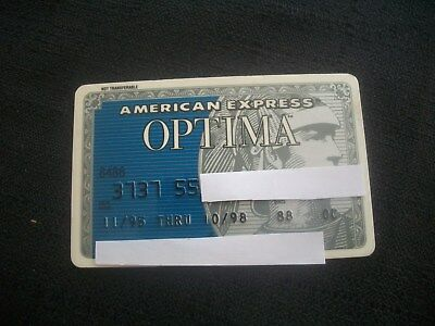American Express Optima 1995 Vintage Credit Card EXPIRED 1995-1998~FACE ON RIGHT
