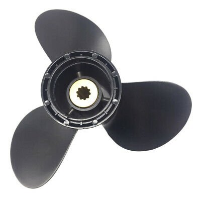 9 1/4 x 10 Aluminum Outboard Propeller 3-Blade For Evinrude/Johnson 8-15HP