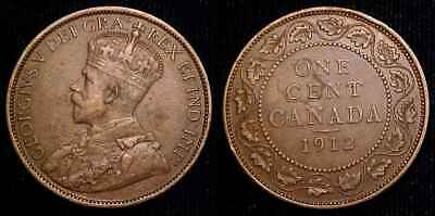CANADA 1912 Large Cent VF