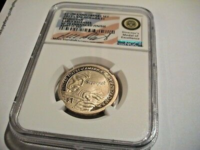 2017 S Ngc Sp70 Hand Signed Miles Standish Sacagawea Dollar Early Releases