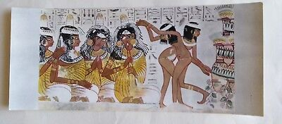 Postcard Egypt MUSICIENS AND DANCERS AT A PARTY UNKOWN TOMB OF THE 18TH DYNASTY