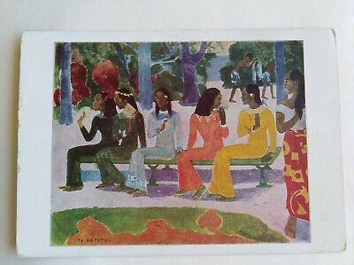 Postcard TA MATETE (The Market) by Paul Gauguin The Pallas Gallery Ltd 1042
