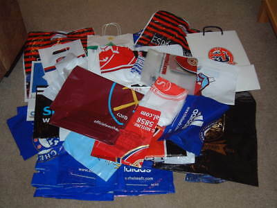 10x Football Carrier Bags Different Teams Plastic/Paper Take Your Pick Listed
