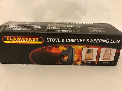 FIREPLACE CHIMNEY STOVE CLEANER SWEEPING LOG FLAMEFAST cleaning CLEAN SWEEP LOGs