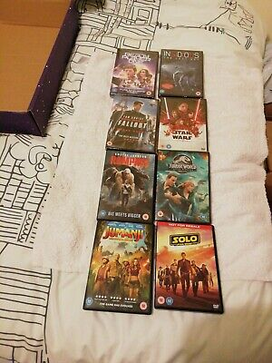 DVD bundle job lot Ready Player One Star Wars Solo Last Jedi Insidious Rampage