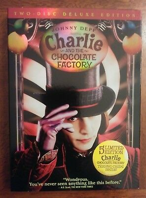 Charlie and the Chocolate Factory (DVD, 2005, 2-Disc Set, Widescn Deluxe Edition