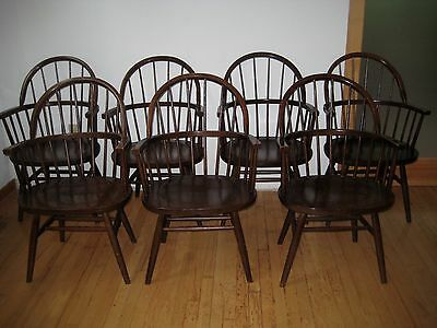 Midcentury  Classic Boling Chairs Set Of Seven