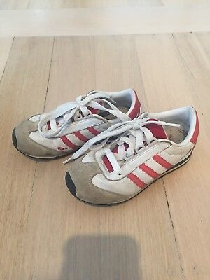 ADIDAS Kids Boys Toddler Unisex Runners Shoes Sz US 9k GUC Red White Adifit