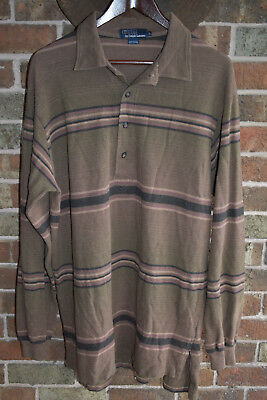 160aae01 Vintage Polo Ralph Lauren long sleeve Polo shirt ( size Large) made in USA