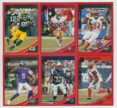 (42) Different 2018 Donruss Red Press Proof Parallel Lot Devin Mccourty +++