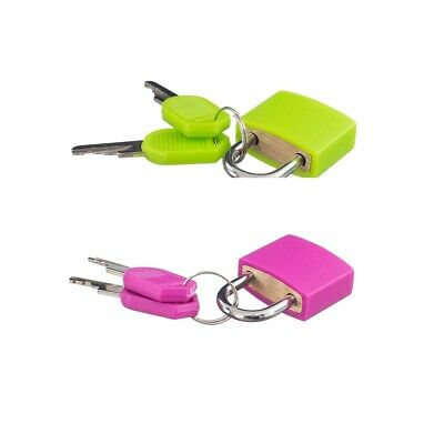2 Pieces Small Padlock with 4 Keys for Luggage Suitcase Bag Travel Accessory