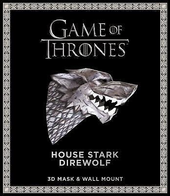 Game of Thrones Mask: House Stark Direwolf by Wintercroft (2017, Paperback)