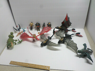 LOT 10 HOW TO TRAIN YOUR DRAGON FIGURES lot OF 14