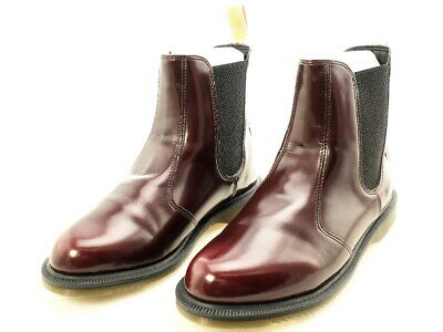 DR. MARTENS WOMEN'S Vegan Flora Chelsea Boot, Cherry Red, 8