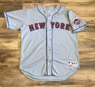 3ae6521c1 New York Mets Vintage 90s Rawlings Authentic MLB Baseball Jersey Mens 48 XL  Rare