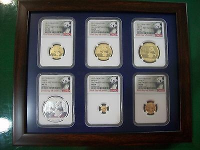 2017 China ~ 3 Oz Gold&silver Panda Prestige 6 Coins Set Ngc Ms 70 First Day