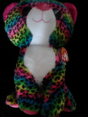 b43217d57a7 TY BEANIE BOOS DOTTY - multicolor leopard large Plush 17