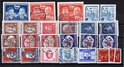 GERMANY DDR 1951-2 various stamps used