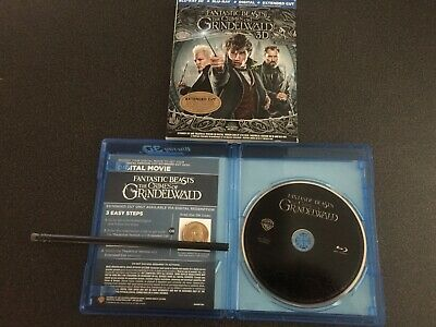 Fantastic Beasts - Crimes of Grindelwald (Blu-ray Disc, 2019) NO 3D. FROM A SET