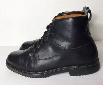 9395b04daae COLE HAAN BLACK Waterproof Wagner Grand Waterproof Cap-Toe Boot Lace ...