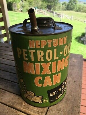 Vintage Neptune Petrol-Oil Mixing Can
