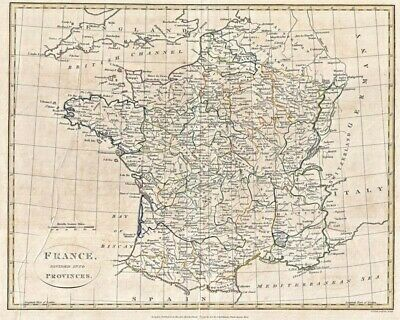 1799 Clement Cruttwell Map Of France In Provinces 8X10 Print Fp_1743201117