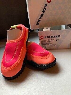 33c9856d58a72 BRAND NEW WATER Shoes Airwalk Watersock Pink Coral Girls Toddler Shoes Size  10