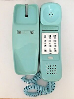 Western Electric Trimline Desk Telephone in Tourquoise Color - Not Tested